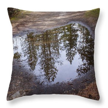 Throw Pillow featuring the photograph The Sky Below by Ben Upham III