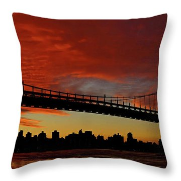 The Sky Is Burning Throw Pillow
