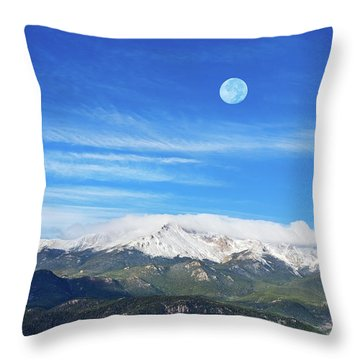 The Skyscraper That Towers Over My Hometown Reaches The Clouds At 14115 Feet Above Sea Level.  Throw Pillow
