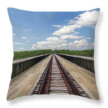 The Skywalk Throw Pillow