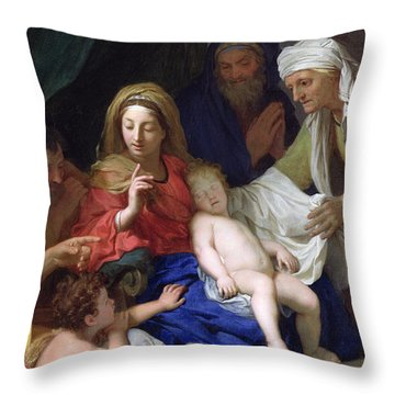 The Sleeping Christ Throw Pillow by Charles Le Brun