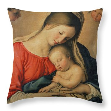 The Sleeping Christ Child Throw Pillow