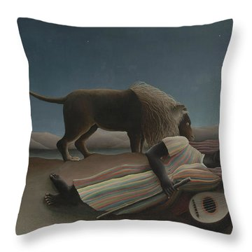 The Sleeping Gypsy, 1897 Throw Pillow