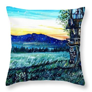 The Sleepover Throw Pillow by Shana Rowe Jackson