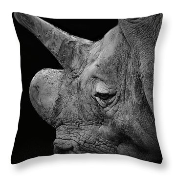 The Sleepy Rhino Throw Pillow