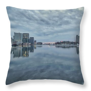 Throw Pillow featuring the photograph The Sliver Of Sunrise by Mark Dodd