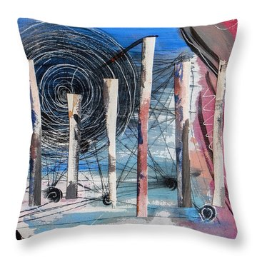 The Slough Of South Palm Canyon Drive Throw Pillow by Stan  Magnan