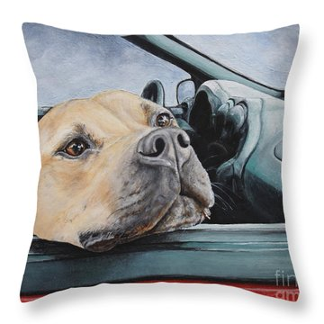 The Smell Of Freedom Throw Pillow by Mary-Lee Sanders
