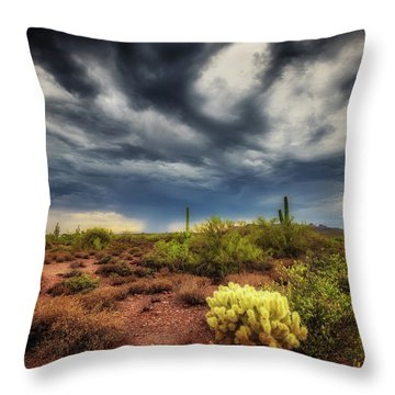 The Smell Of Rain Throw Pillow