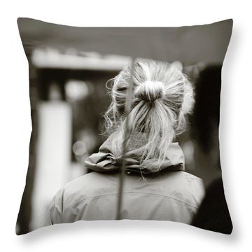 Throw Pillow featuring the photograph The Smell Of Your Hair by Empty Wall
