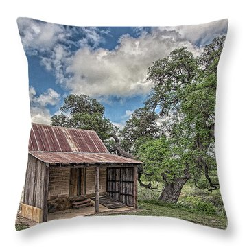 The Smoke House Throw Pillow