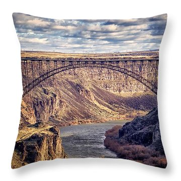 The Snake River At Twin Falls Idaho Throw Pillow