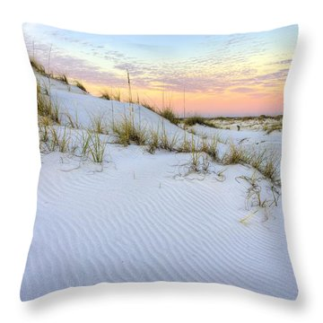 The Snow White Dunes Of The Panhandle Throw Pillow