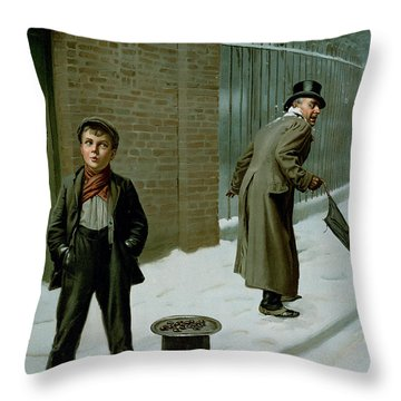 The Snowball Throw Pillow by H Pittard