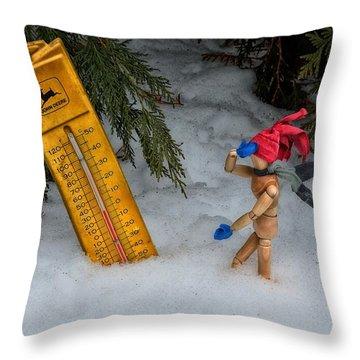 The Snowstorm Throw Pillow