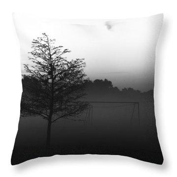 The Soccer Fields Throw Pillow
