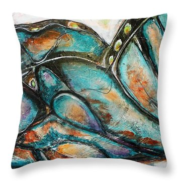 The Social Butterfly Throw Pillow
