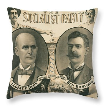 The Socialist Party Presidential Ticket Of 1904 Throw Pillow