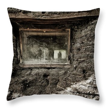 Throw Pillow featuring the photograph The Sod House by Brad Allen Fine Art