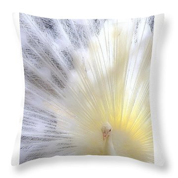 The Softer Side Of White Throw Pillow