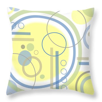 The Softness Of Circles Throw Pillow by Tara Hutton