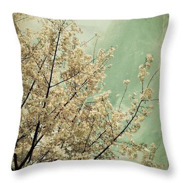 The Softness Of Spring Throw Pillow