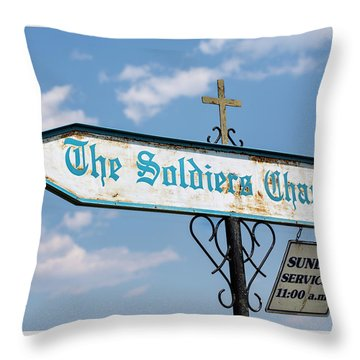 The Soldiers Chapel Sign Throw Pillow