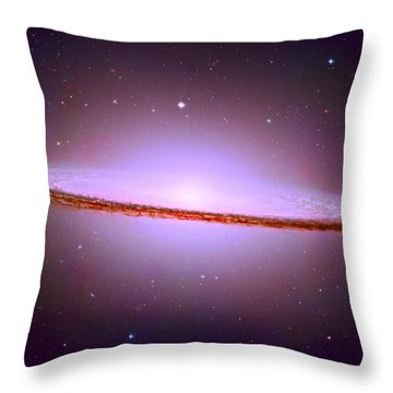 The Sombrero Galaxy M104 Throw Pillow by Don Hammond