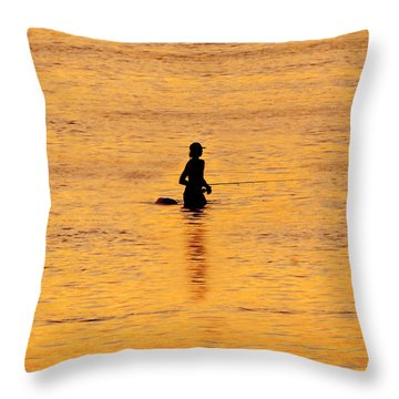 The Son Of A Fisherman Throw Pillow by David Lee Thompson