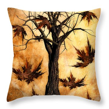 The Song Of Autumn Throw Pillow