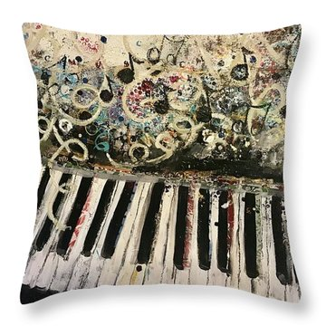 The Songwriter  Throw Pillow