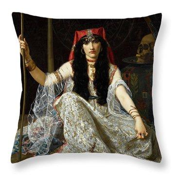 The Sorceress Throw Pillow
