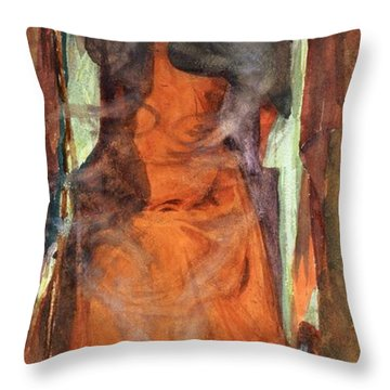 The Sorceress Throw Pillow by Henry Meynell Rheam
