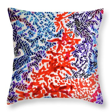 The Sound Of Fireworks Throw Pillow