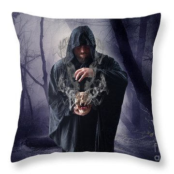 The Sounds Of Silence Throw Pillow by Nichola Denny
