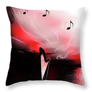 The Sounds Of Sunset Throw Pillow