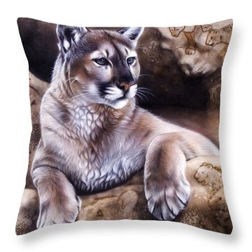 The Source Iv Throw Pillow by Sandi Baker