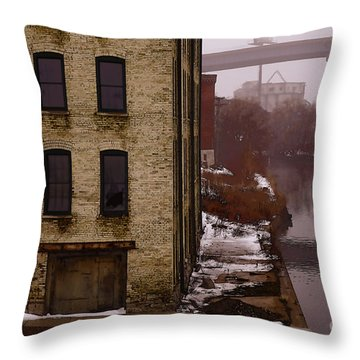 Throw Pillow featuring the digital art The South Bank by David Blank