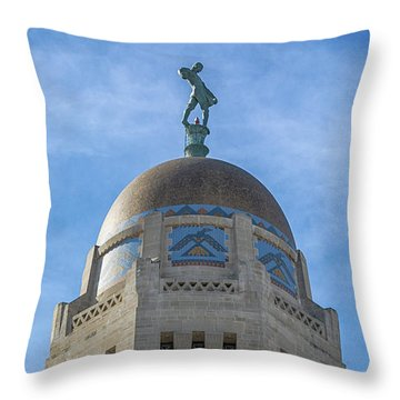The Sower Throw Pillow