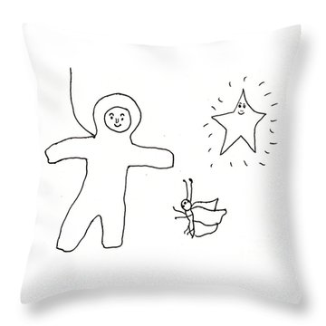 The Spaceman Throw Pillow