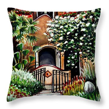 The Spanish Gardens Throw Pillow by Elizabeth Robinette Tyndall