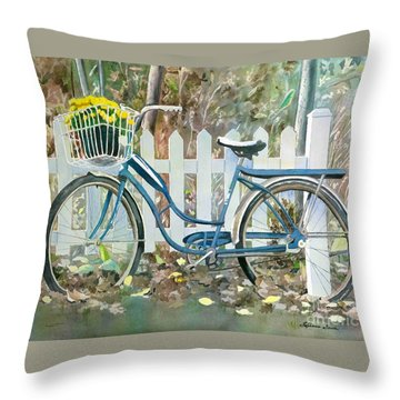 Throw Pillow featuring the painting The Special Delivery by LeAnne Sowa