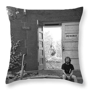 The Speech Annex And Peter Steven, 1980 Throw Pillow