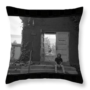 The Speech Annex And Peter Steven, Full Frame, 1980 Throw Pillow