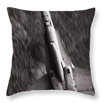 The Speed Of Sound Throw Pillow by Angel  Tarantella