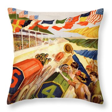 The Speedway Throw Pillow
