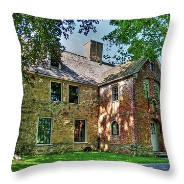 The Spencer-peirce-little House In Spring Throw Pillow