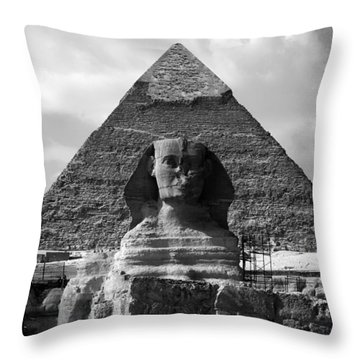 The Sphynx And The Pyramid Throw Pillow