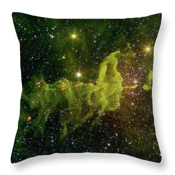 Throw Pillow featuring the photograph The Spider And The Fly Nebula by NASA JPL - Caltech