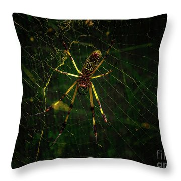 The Spider Throw Pillow
